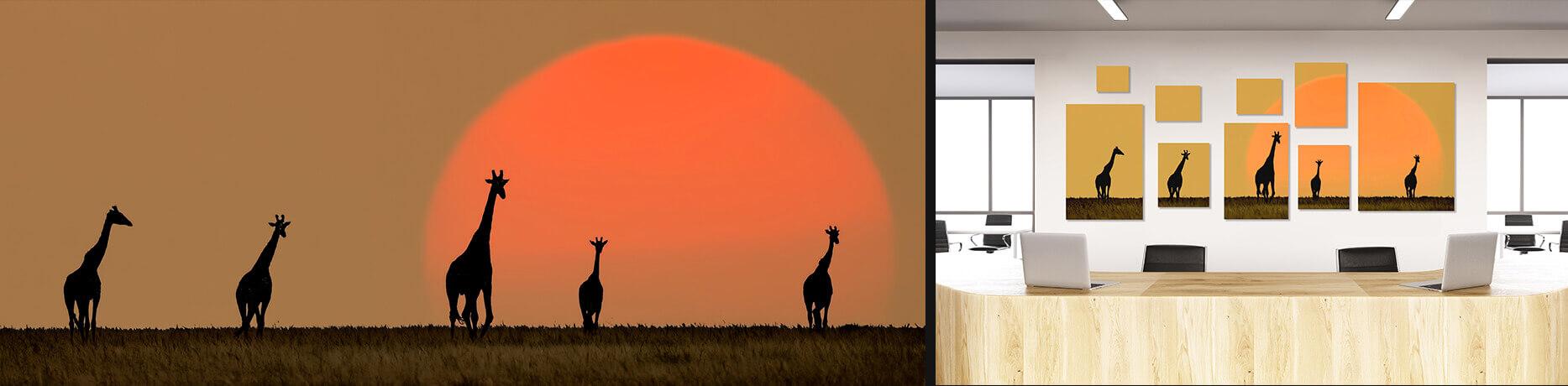 Giraffes Photographic Mosaic